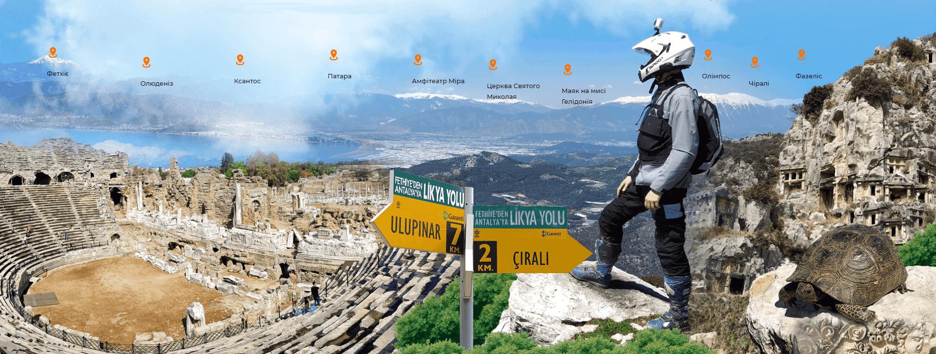 The Lycian Way on moto with Vladlen Ovchar